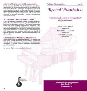 Recital Pianistico Magnificat
